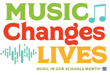 Music Changes Lives - Music in our schools month logo