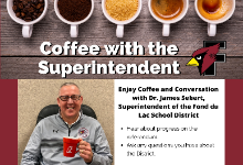 Image of the flyer for upcoming Coffee with the Superintendent events