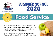 Summer School Food Service Graphic