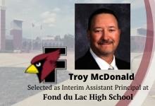Troy McDonald Selected as Interim Assistant Principal at FHS