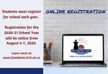 Online Registration details