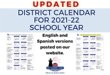 Updated school year calendar