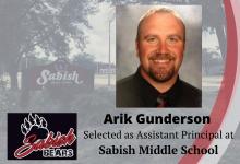 Arik Gunderson selected as Assistant Principal at Sabish Middle School