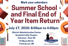 End of Year and Summer School Return