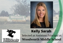 Kelly Sarah selected as Assistant Principal of Woodworth Middle School