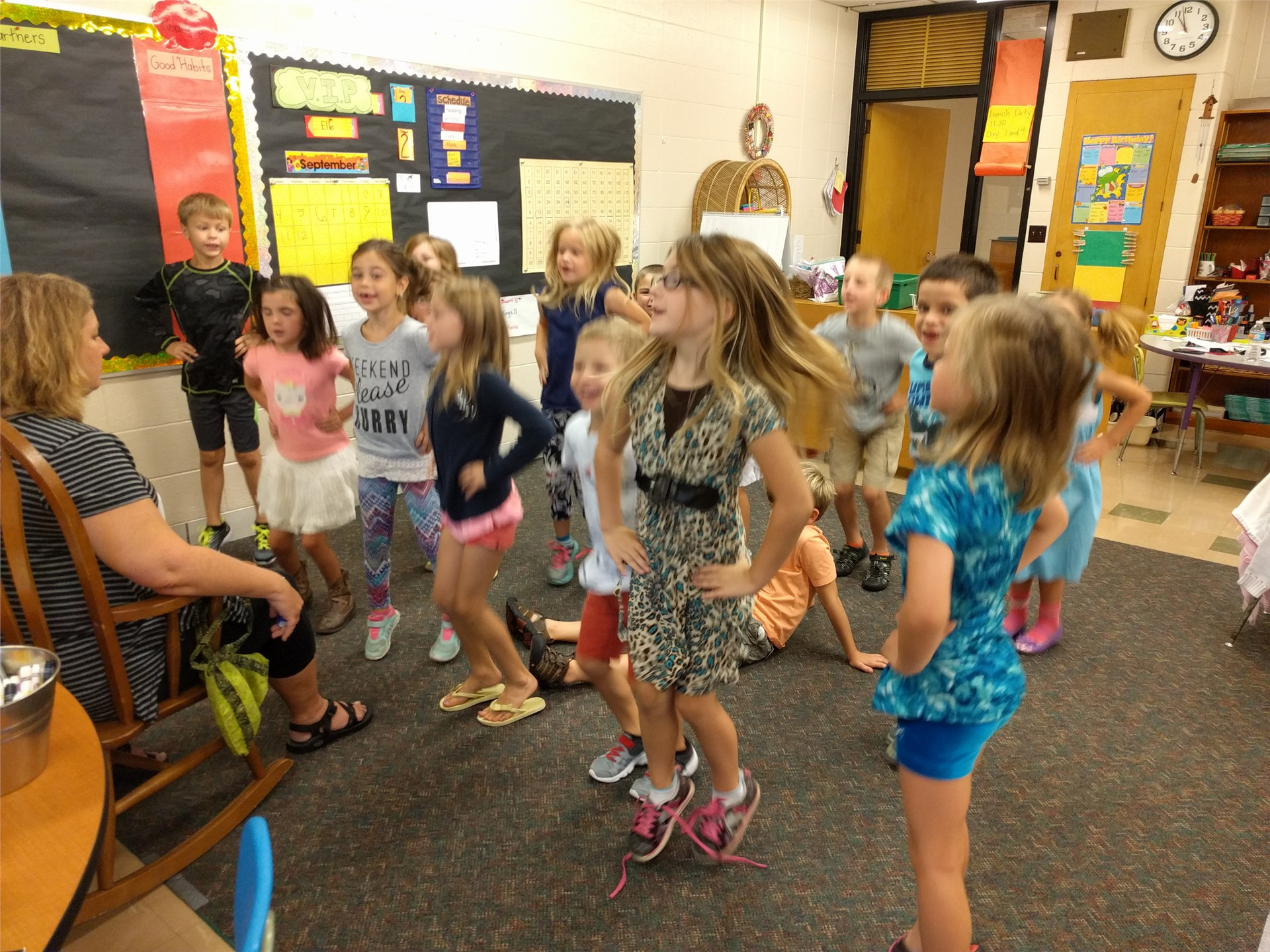 A mid-day dance party to release some energy!