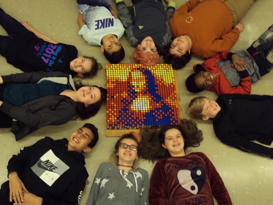 Mona Lisa Solved with Rubik's Cubes