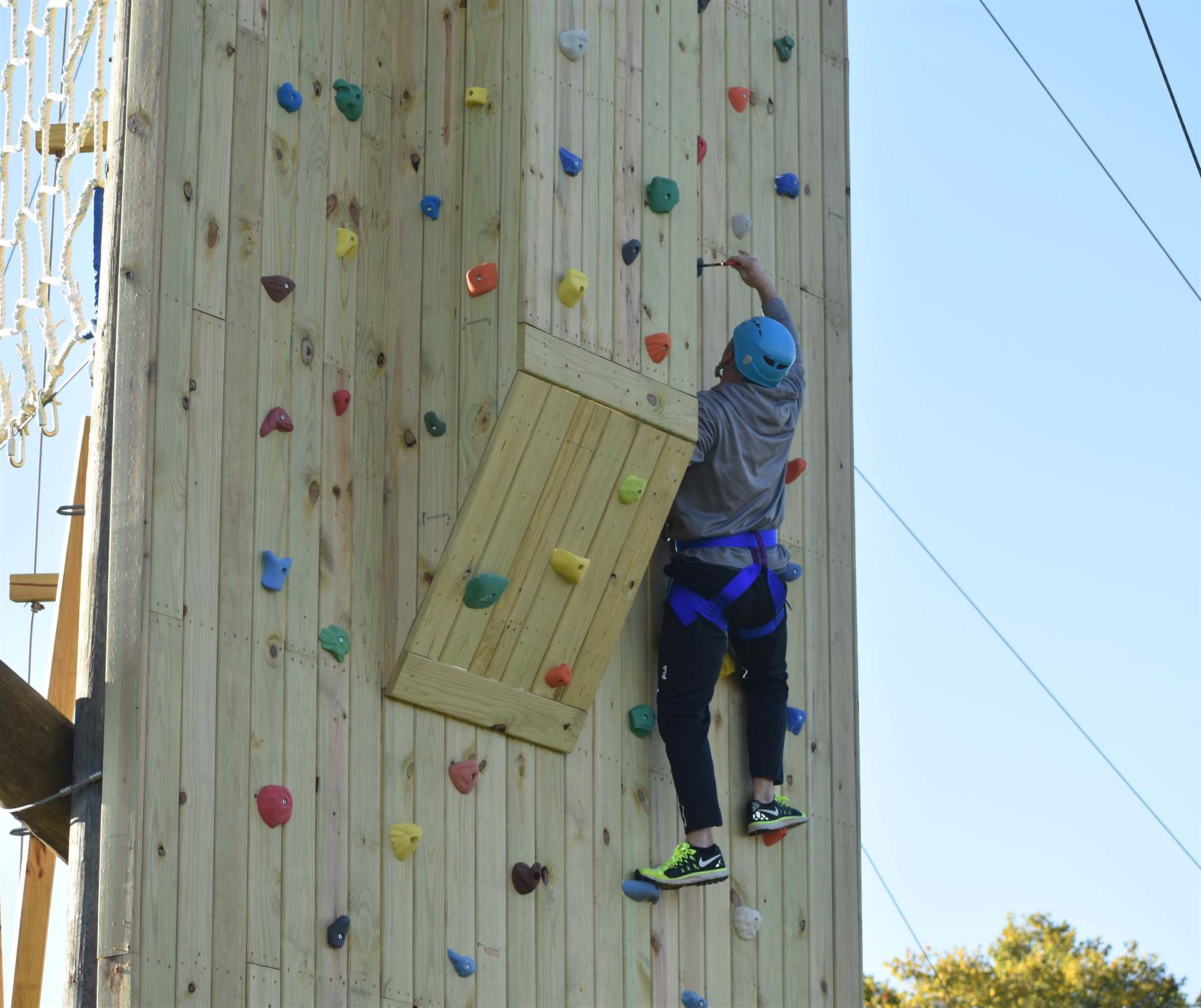 Training on the climbing wall