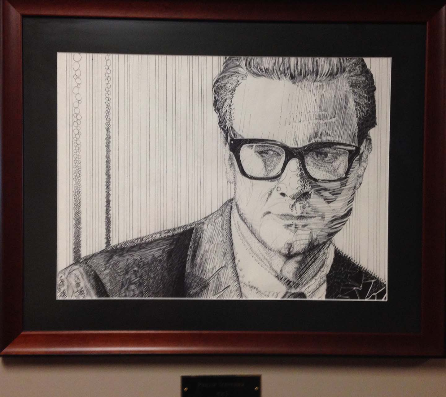 Artwork Middle-Aged Business Man Pencil Sketch