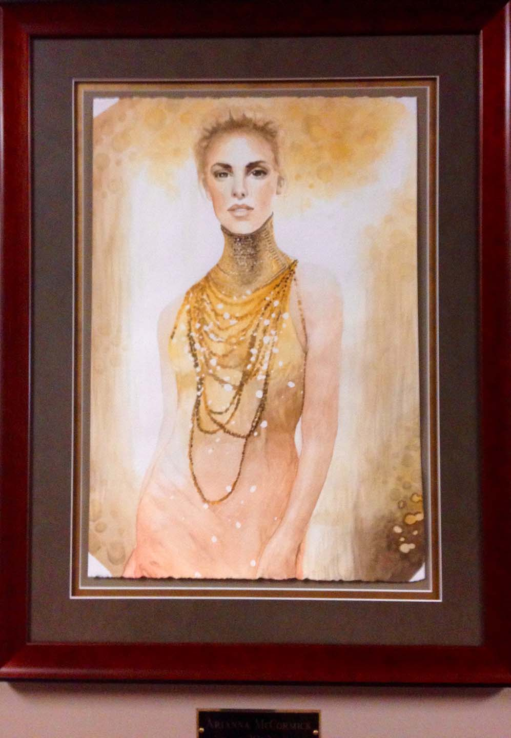 Artwork Female Model with Gold Necklaces