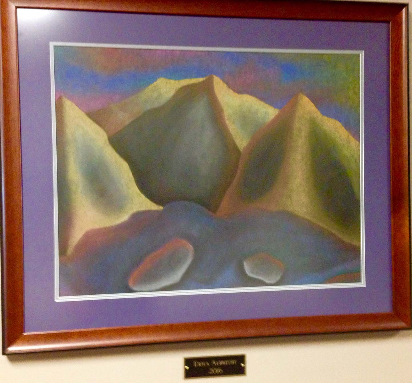 Artwork Many Hued Mountains Abstract