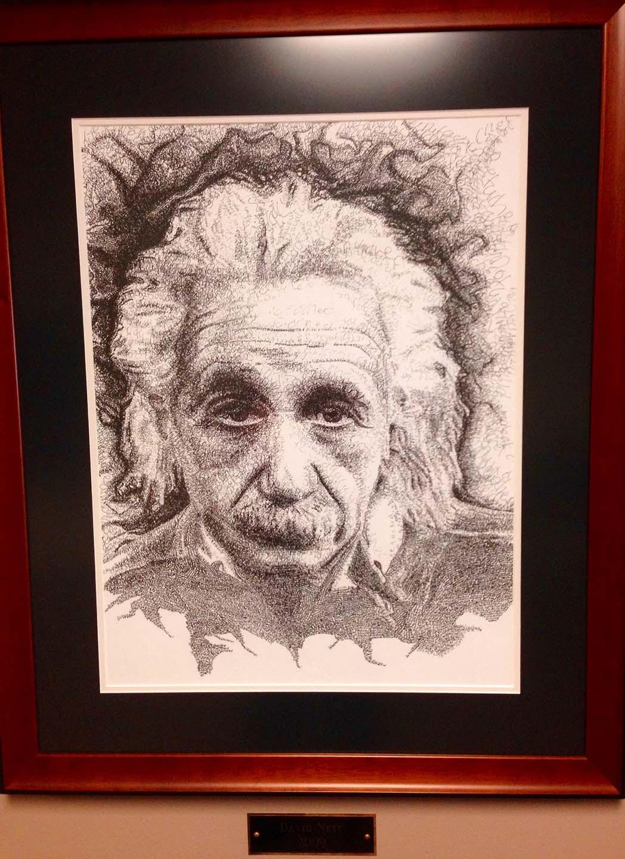Artwork Albert Einstein Pencil Sketch