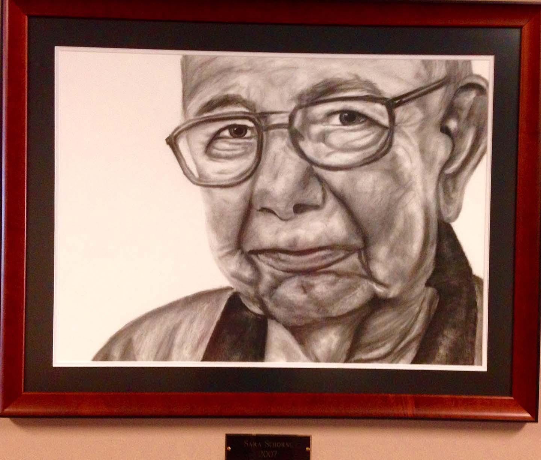 Artwork Old Man Closeup Pencil Sketch