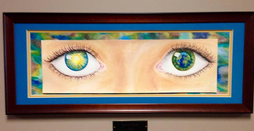 Artwork Closeup of Two Eyes