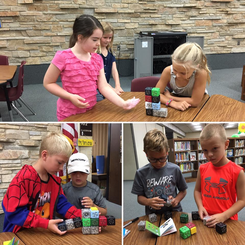 Students Cubelets Robot Construction