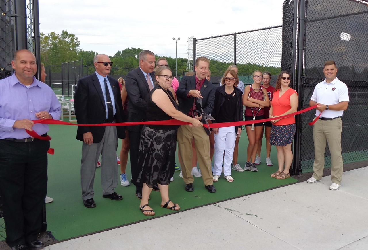 Tennis Court Ribbon Cutting Ceremony