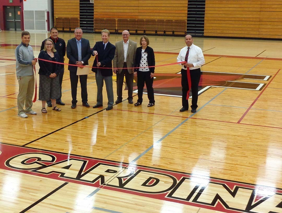 FDL High School Fieldhouse Floor Ribbon Cutting