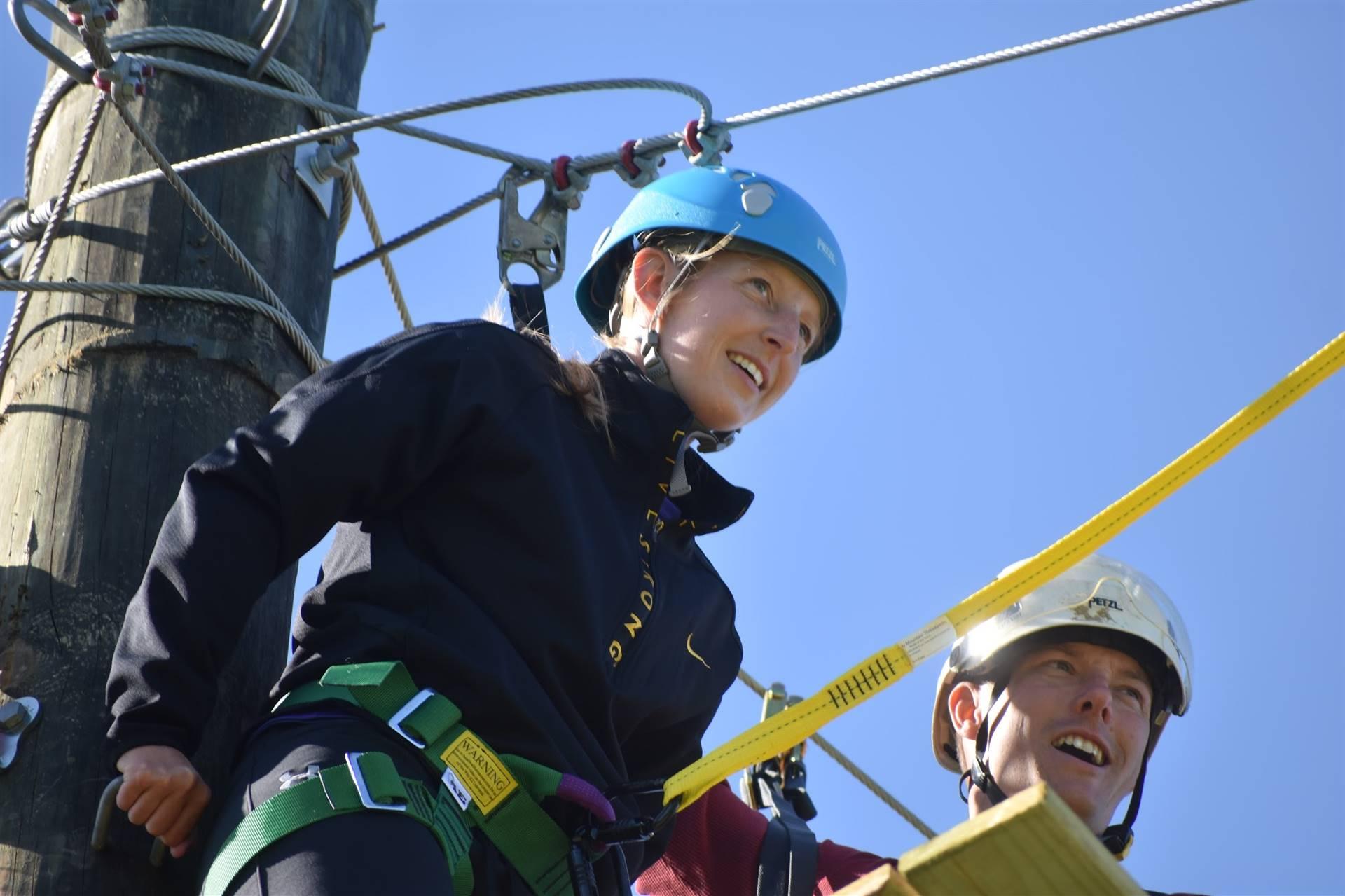 Phy Ed Teacher Doing Ropes Training