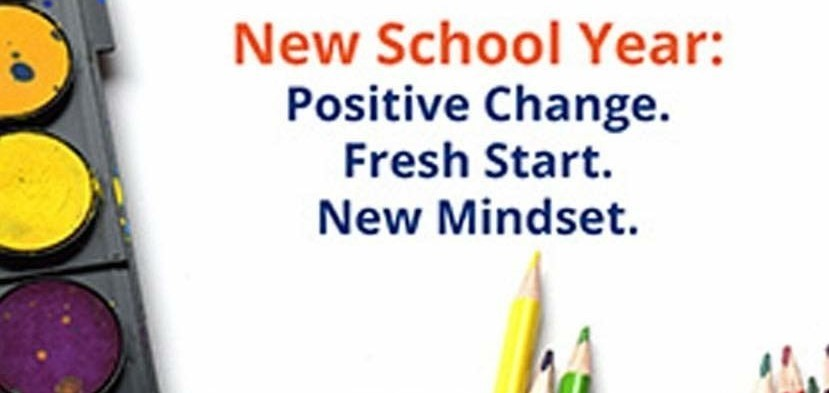 New School Year - Positive Change