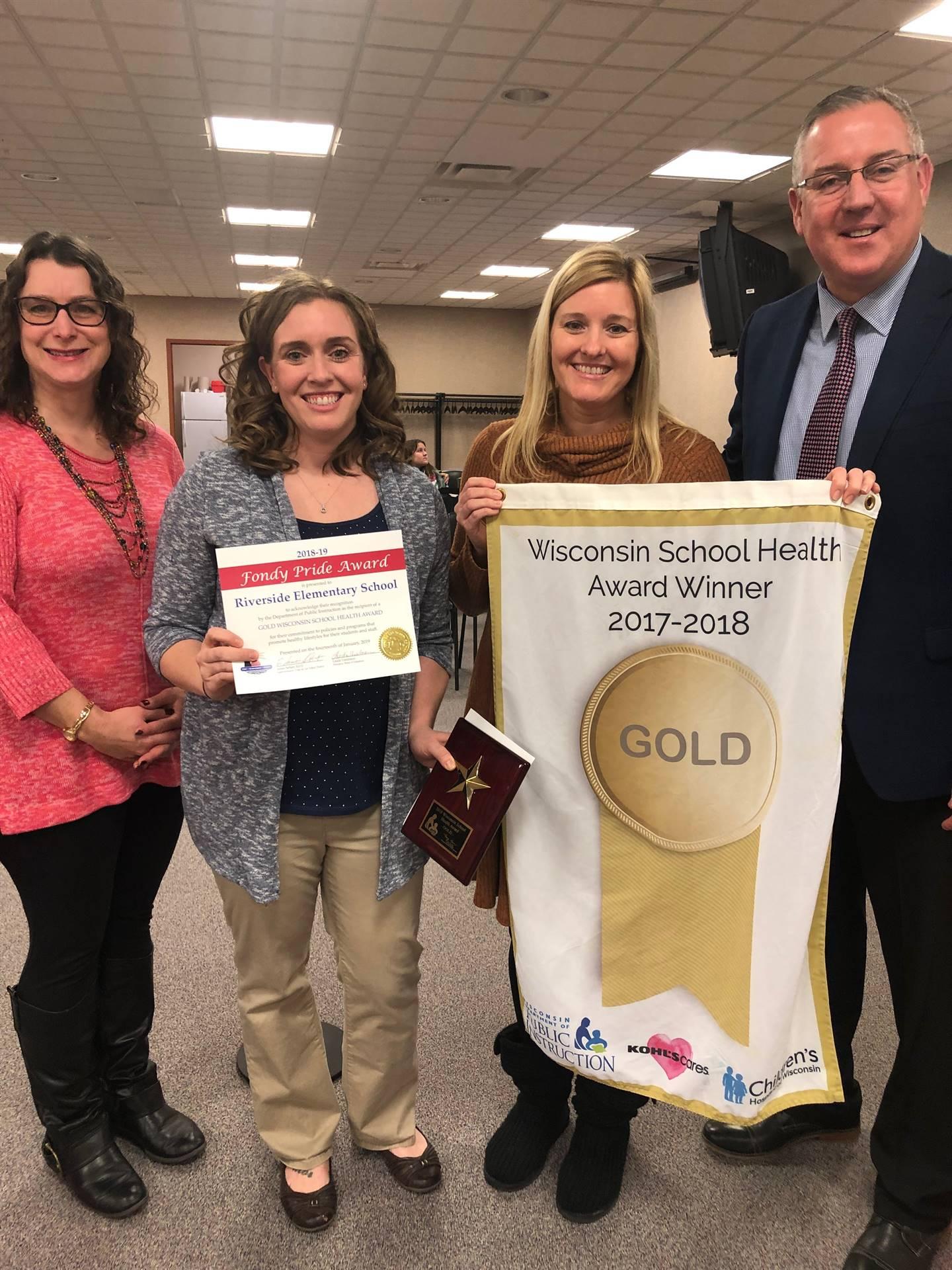 Gold Award - Pride Award received at Board Meeting