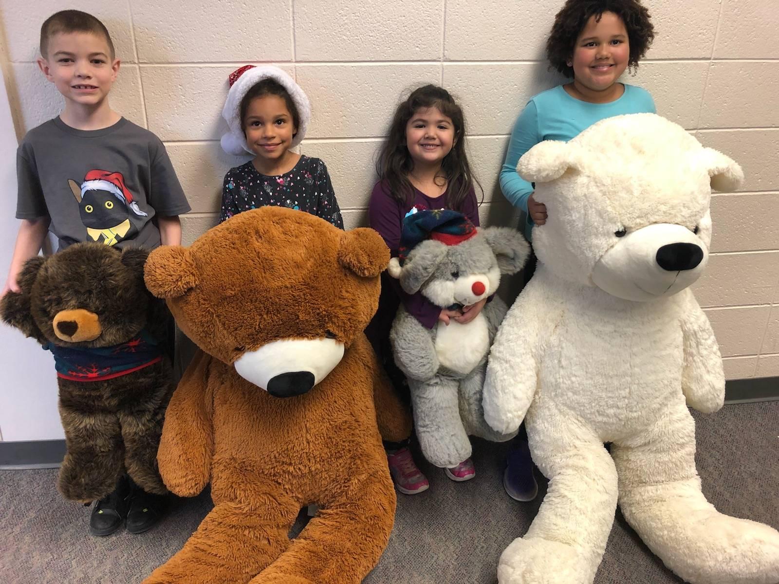 Teddy bear attendance winners