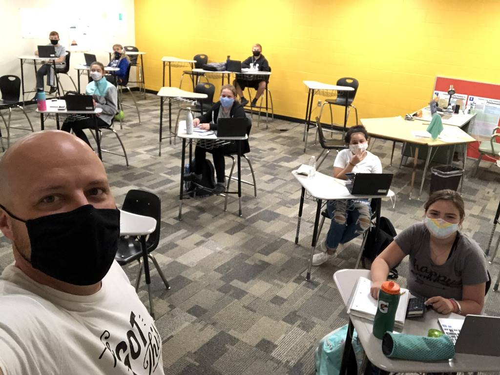 Mr. Diedrich and students