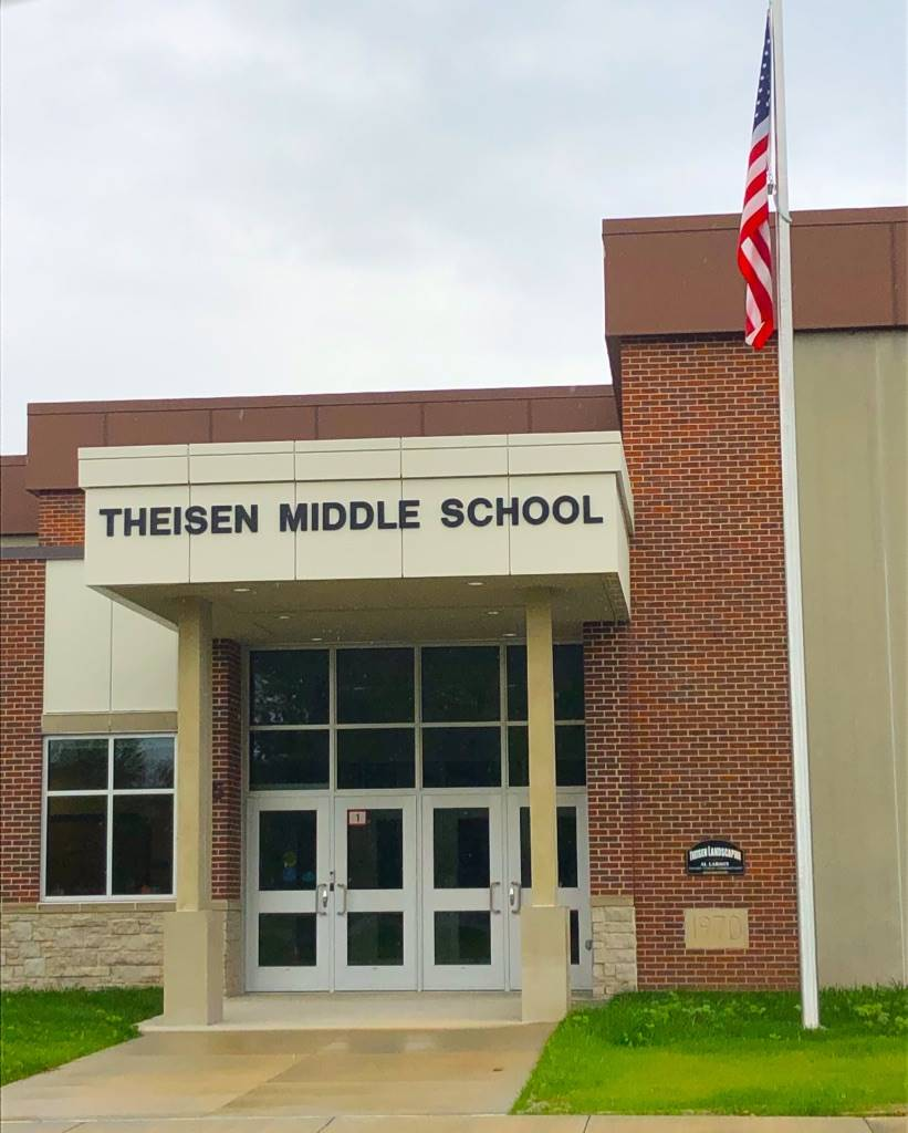 Theisen Middle School main entrance