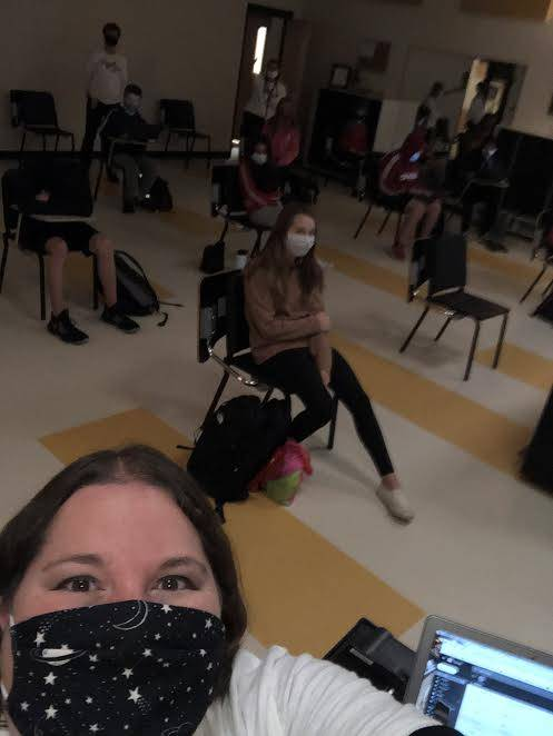 Ms. Kawleski and students