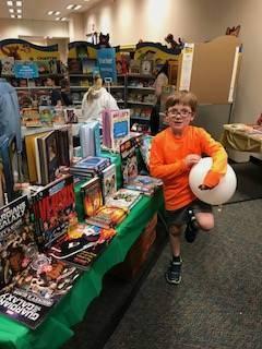Spring carnival-student at Scholastic Book Fair