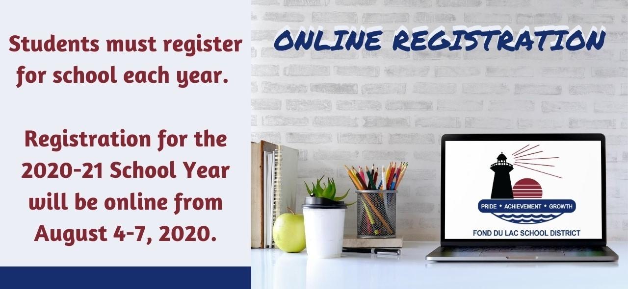 Online registration August 4-7, 2020