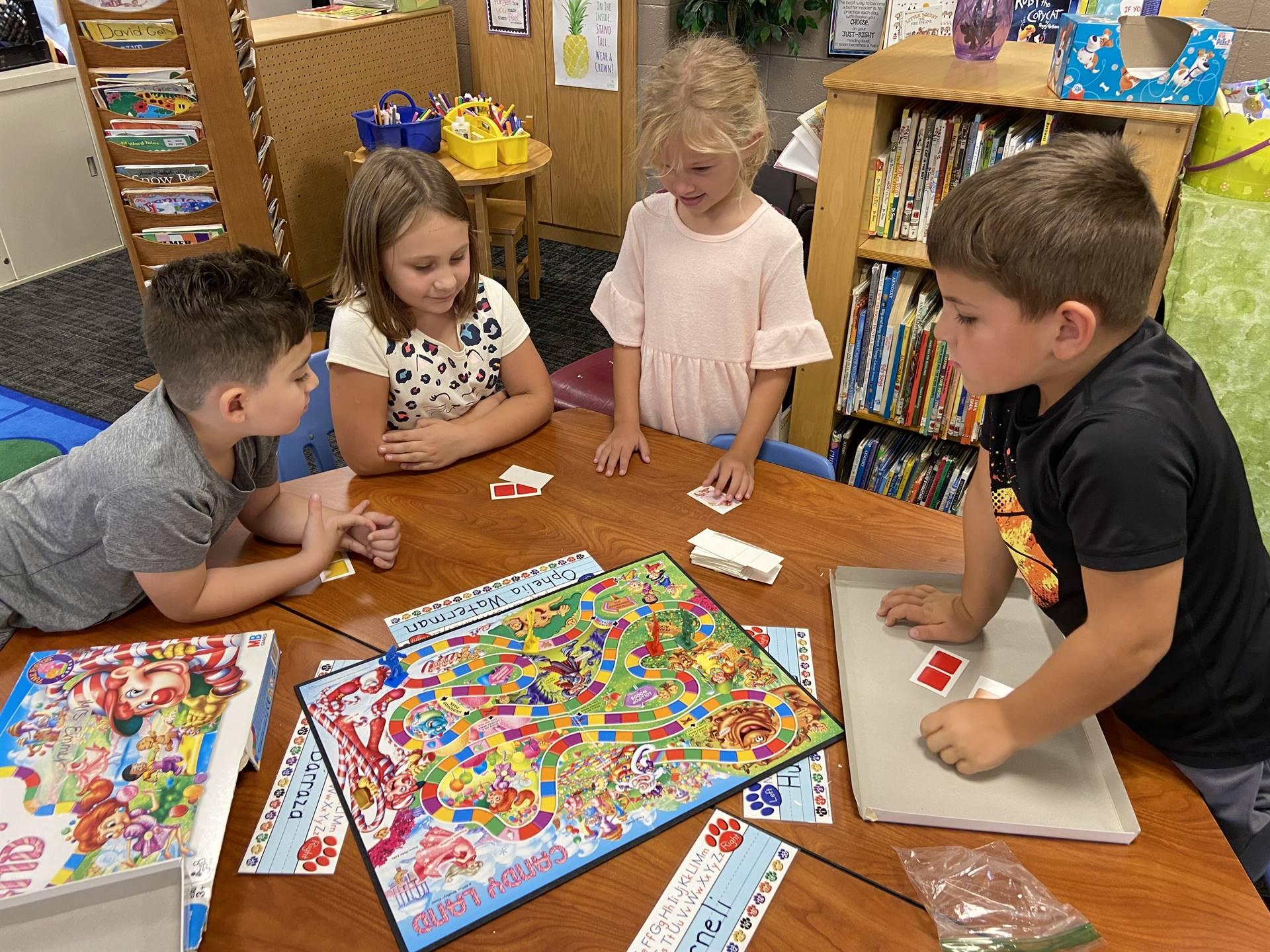 1st grade using board games to teach social skills.