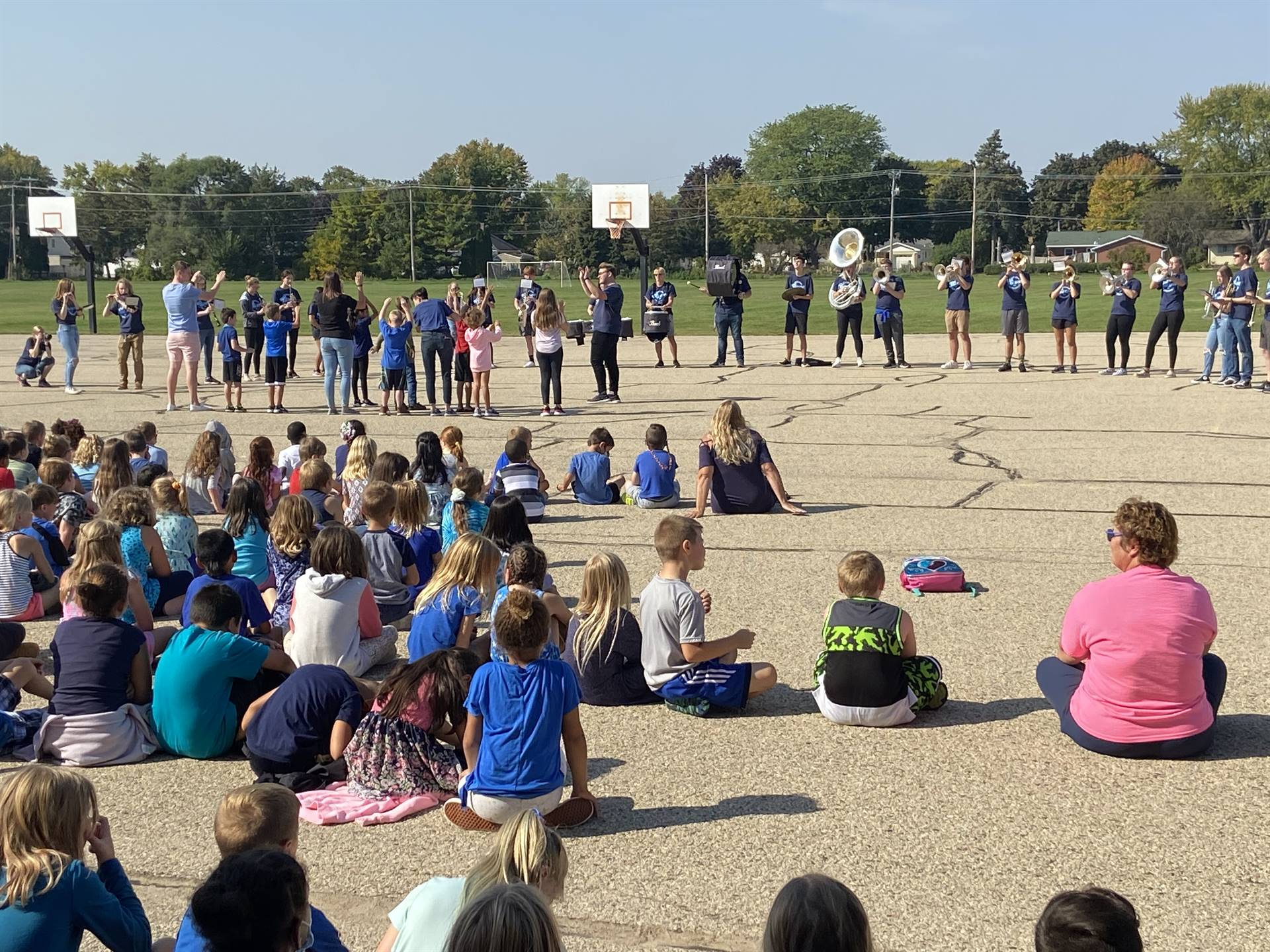 PBIS Assembly with the Fondy HS Marching Band