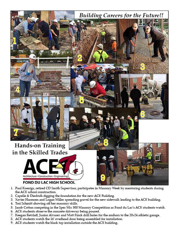 Photo collage of ACE students participating in skill-building projects