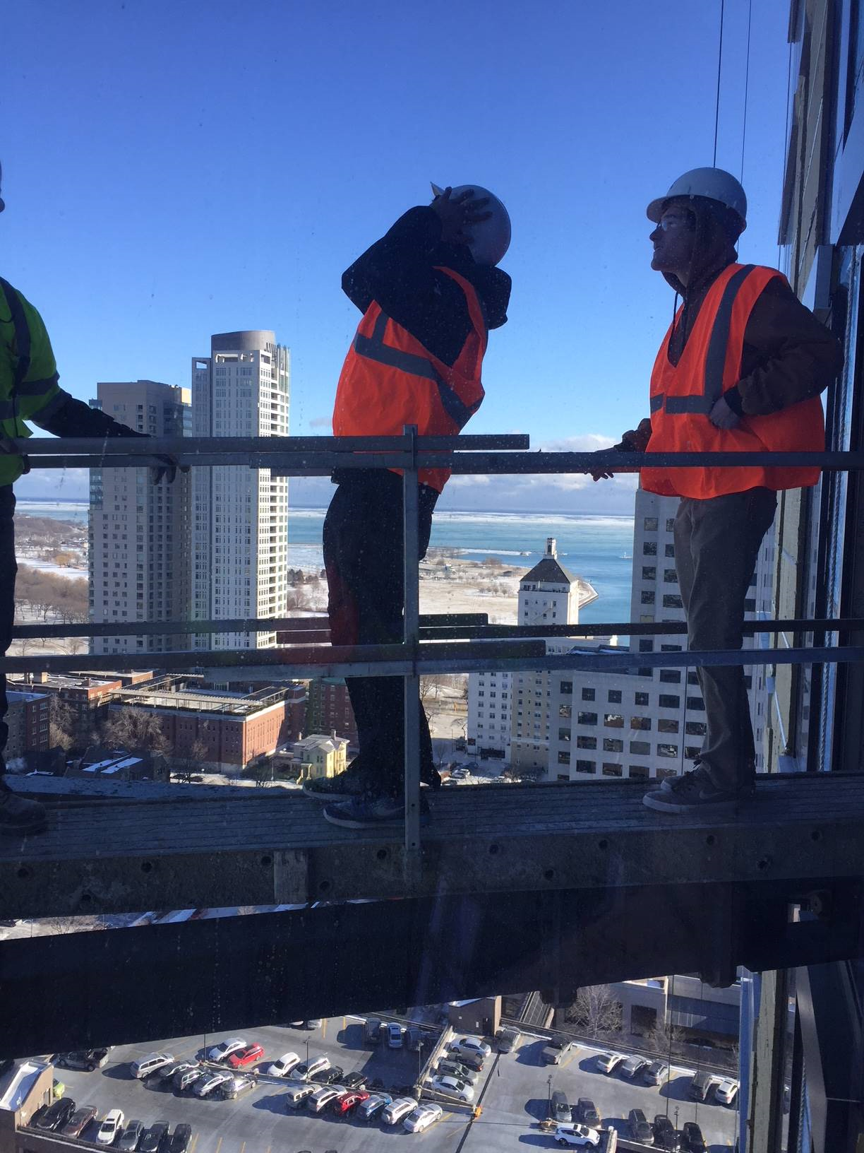 ACE student steps out on high-rise platform