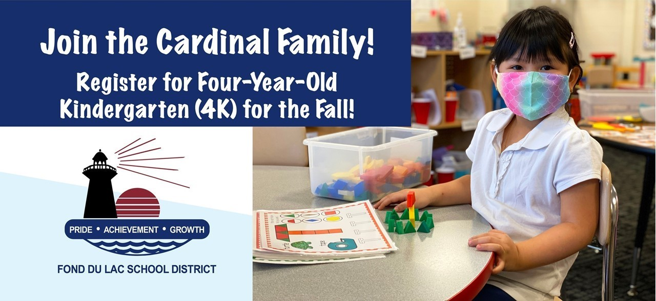 Student working with blocks, Join the Cardinal Family, enroll in 4K for the Fall!