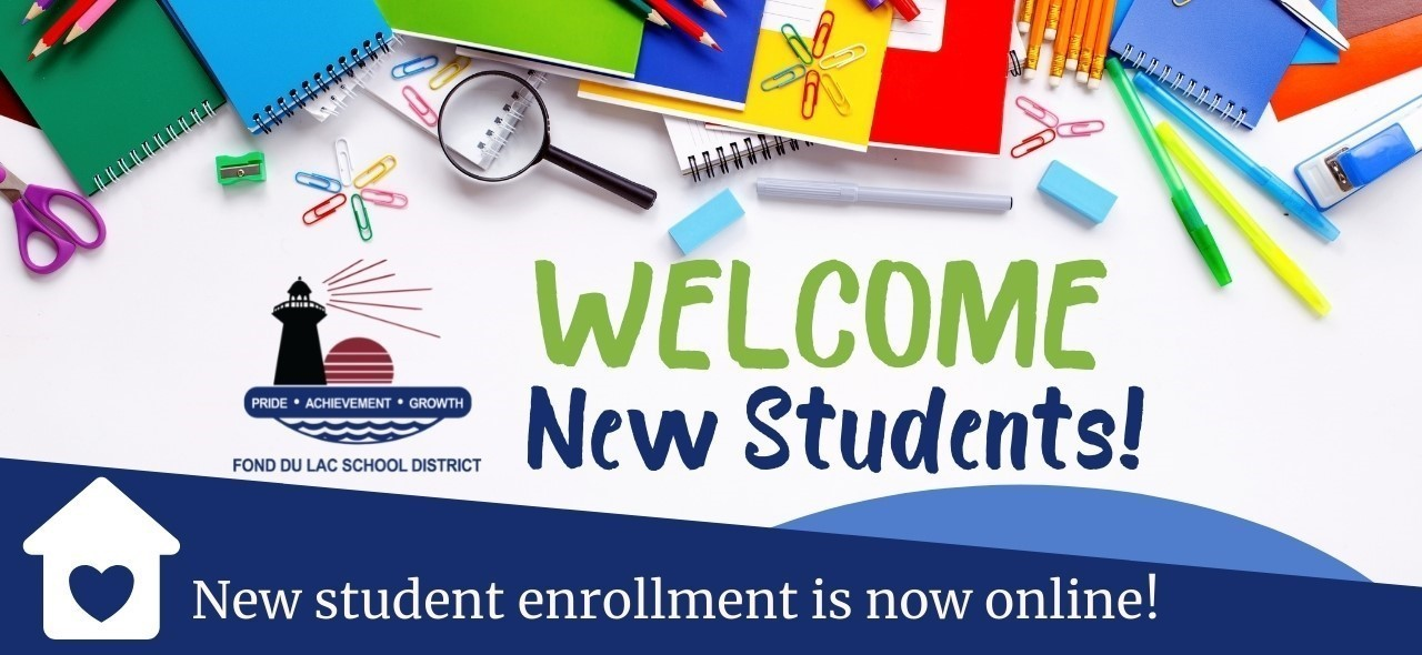 Welcome new students! New student enrollment is now online.