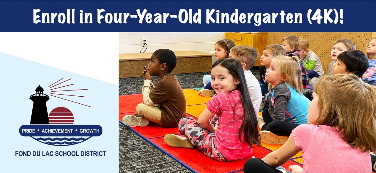 Students listen while their teacher reads a book, Join the Cardinal Family, enroll in 4K for the Fall!